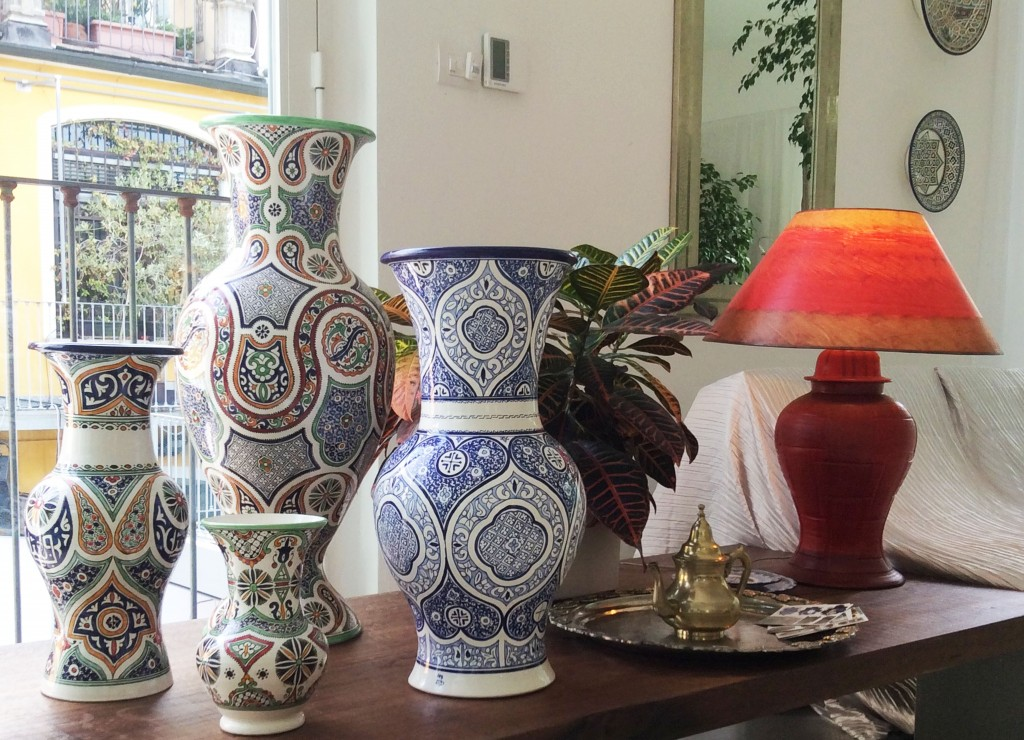 hand-painted amphorae vases tadelakt
