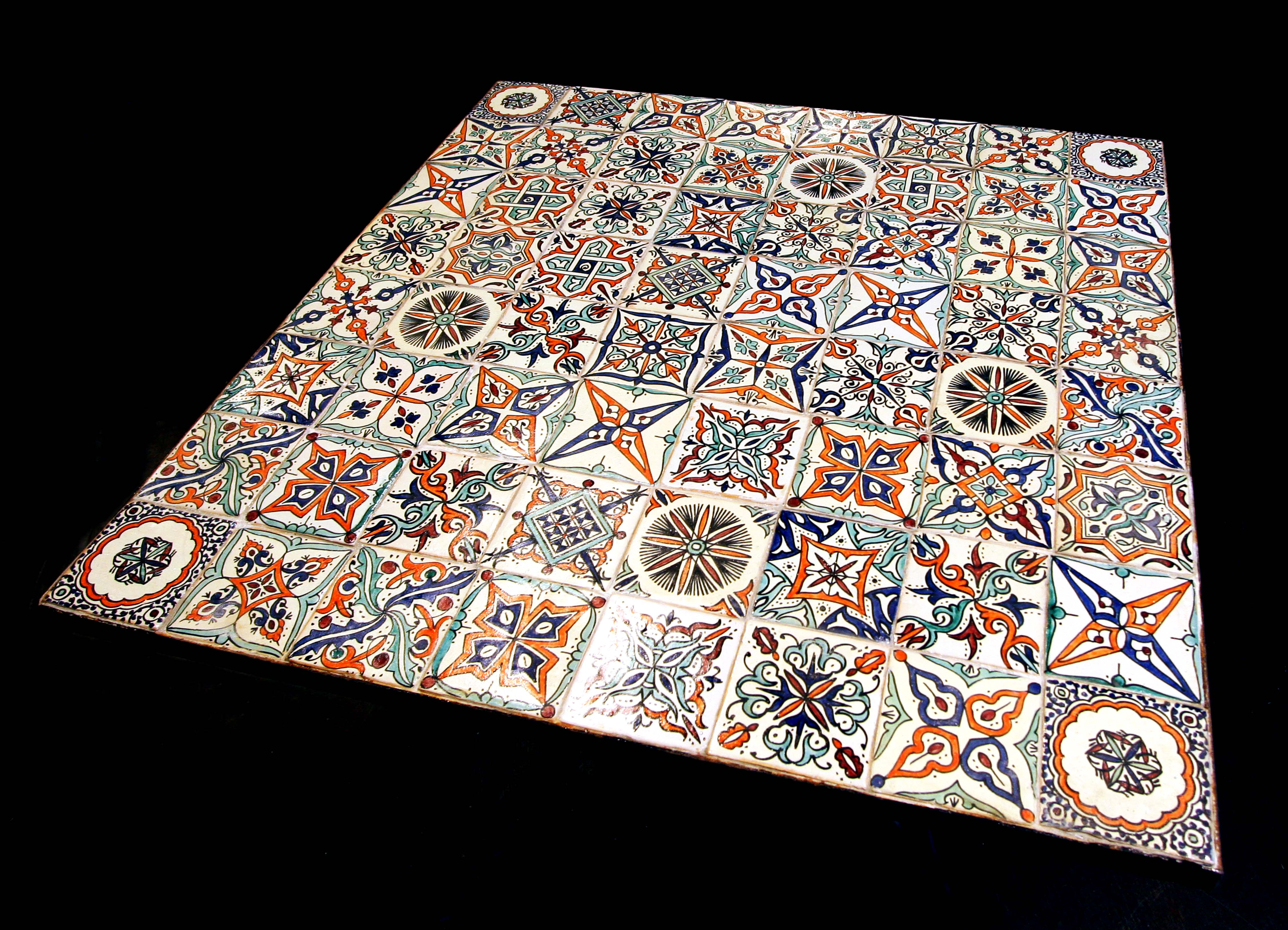 Table hand-painted tiles – ARTS DESIGN ®